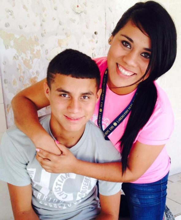 Dulce and her brother, Jorge
